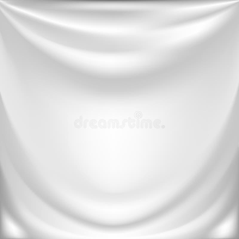 White silk drapery. Elegant background with white silk drapery. Vector illustration royalty free illustration