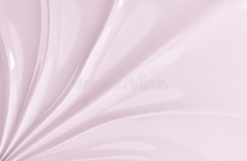 White silk drapery and fabric background. 3d render. Ing stock illustration