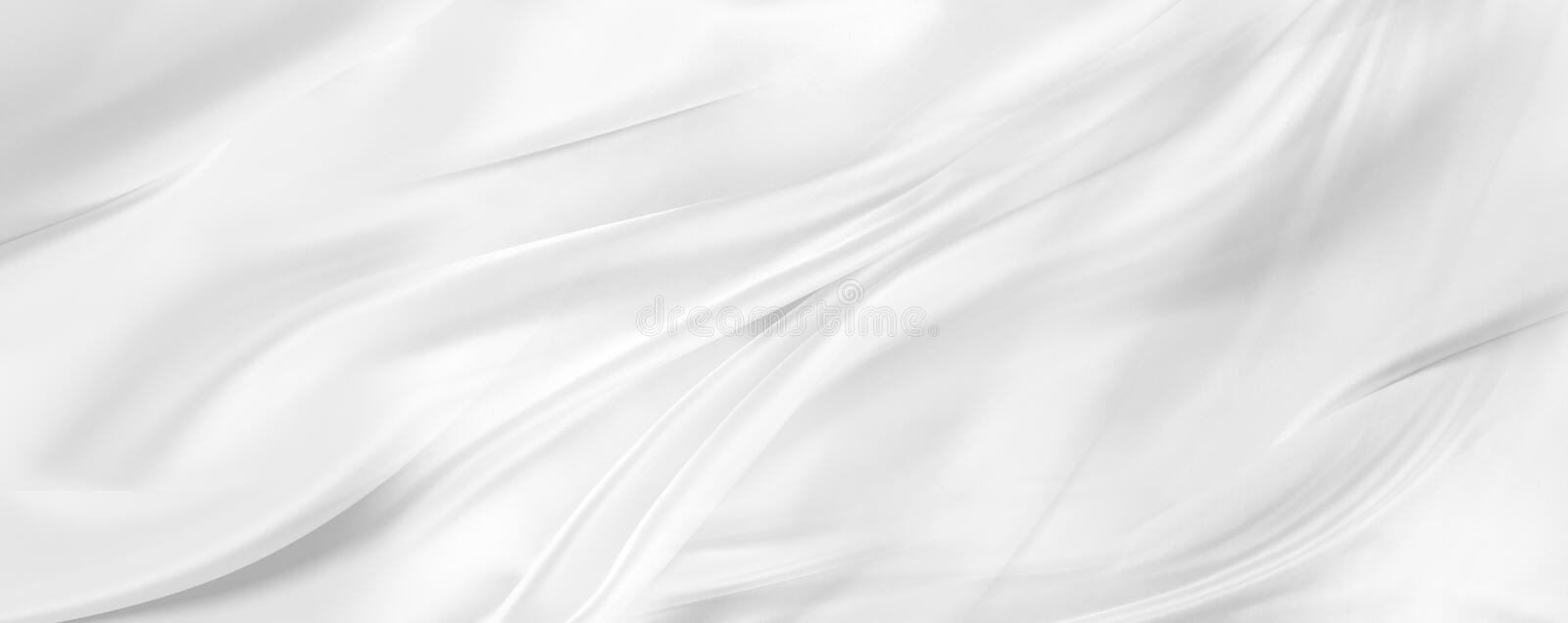 White silk fabric. Closeup of rippled white silk fabric royalty free stock images