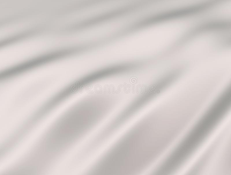 White silk fabric. 3d render illustration.White silk fabric royalty free illustration