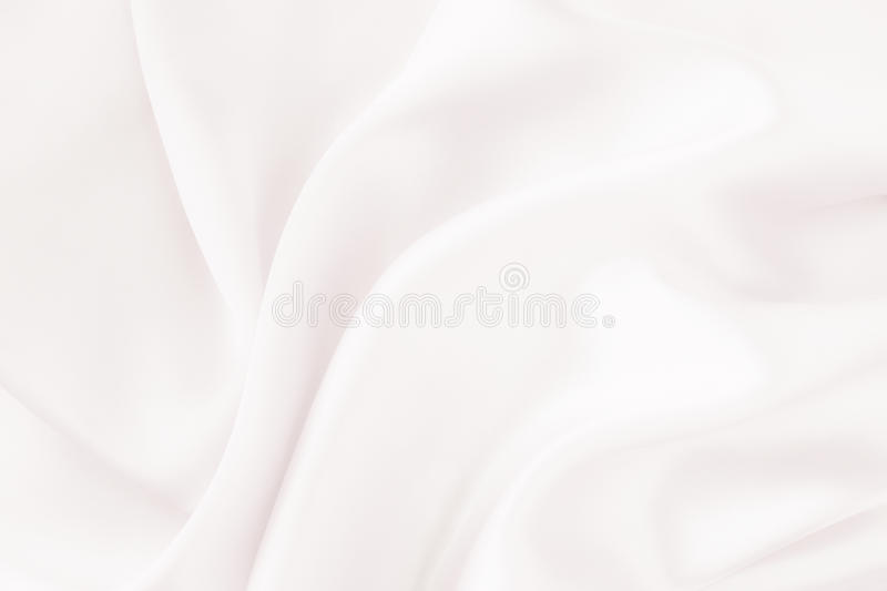 White silk fabric - soft, elegant and delicate royalty free stock photo