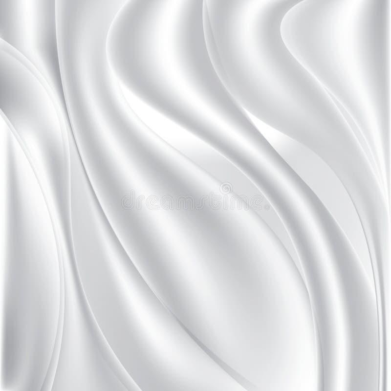 White silk fabric. Textile background. Stock vector illustration. White silk fabric. Textile background. Stock vector illustration royalty free illustration