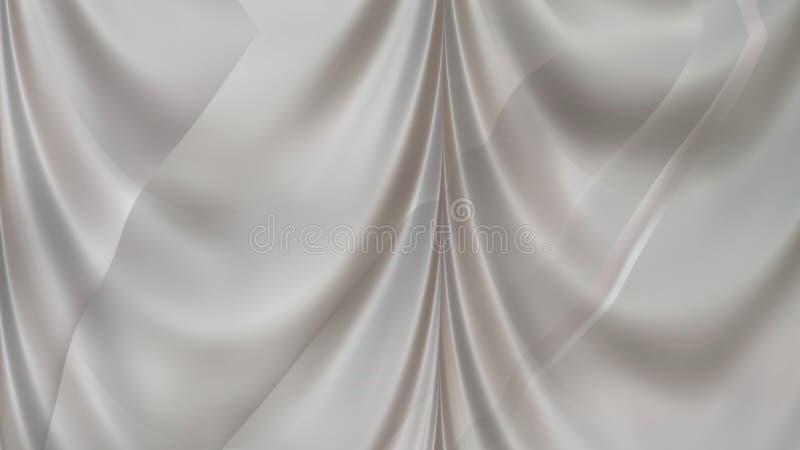 White Silk Satin Background Beautiful elegant Illustration graphic art design Background. Image royalty free illustration
