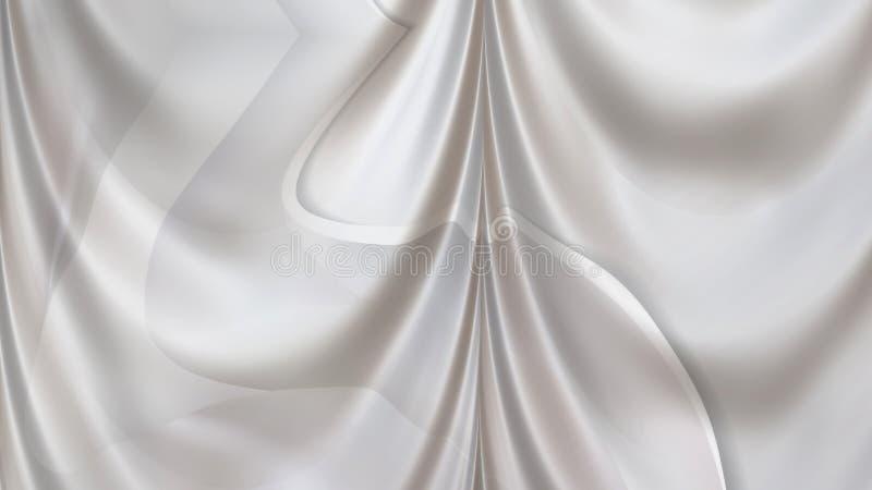 White Silk Satin Background Beautiful elegant Illustration graphic art design Background. Image stock illustration