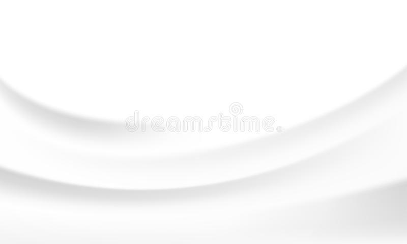 White silk satin background smooth texture vector milk wave background. Abstract circle waves backdrop wallpaper for interior design template or yogurt cream stock illustration