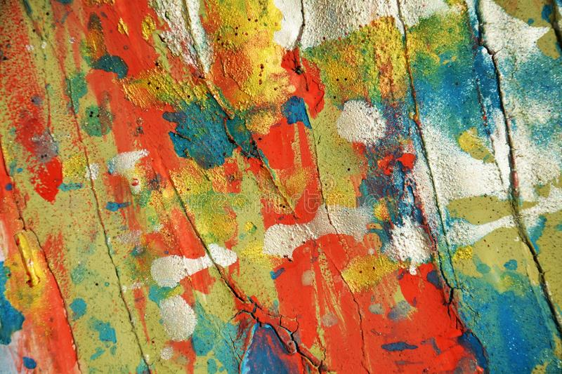 White silver orange blue red pastel waxy spots background and brush strokes, hues, spots royalty free stock photography