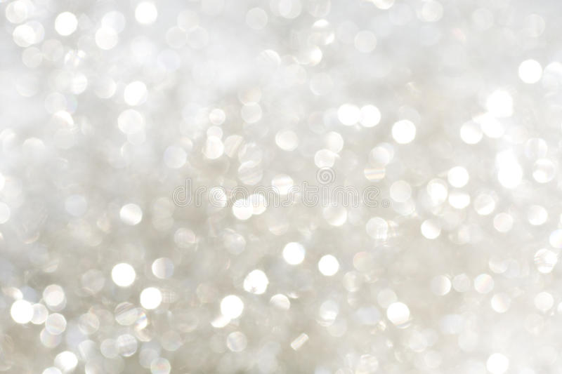 White and silver sparkles stock images