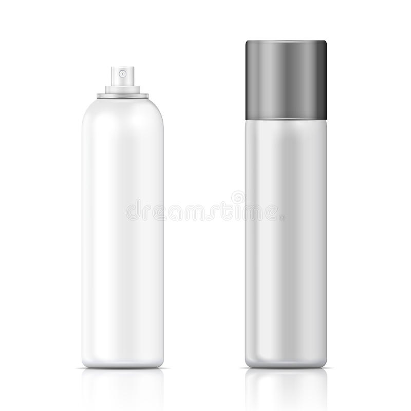 White and silver sprayer bottle template. stock illustration