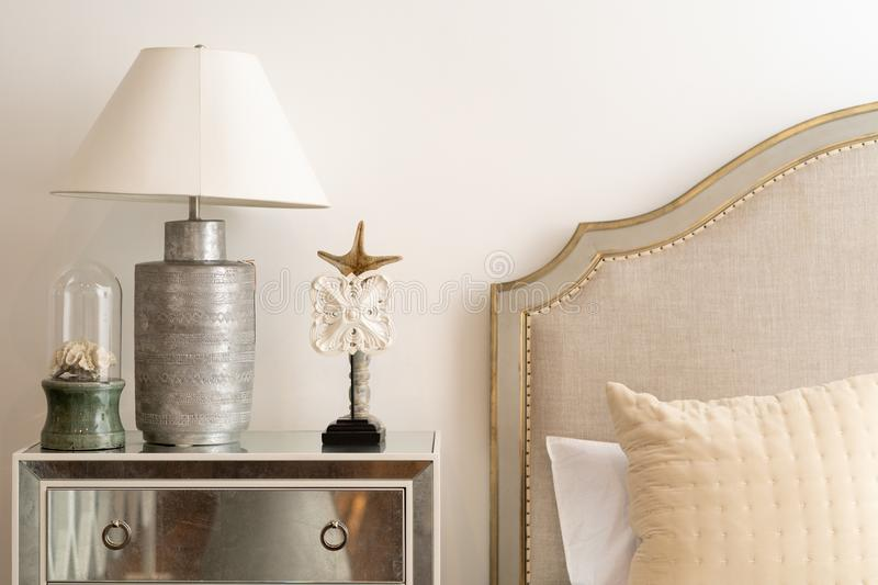 White and Silver Table Lamp stock images