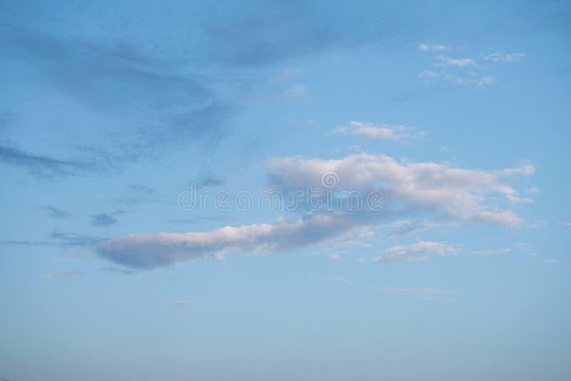 White single cloud in the blue sky. I. White single cloud in the blue sky royalty free stock images
