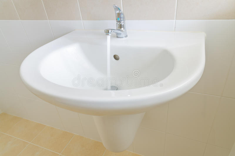Download White Sink And Faucet In A Bathroom Stock Photo - Image: 33219692