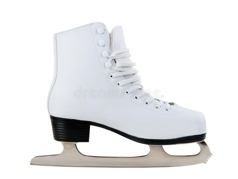 White skates for figure skating royalty free stock images