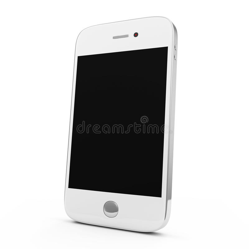 White Smart Phone. On white background vector illustration