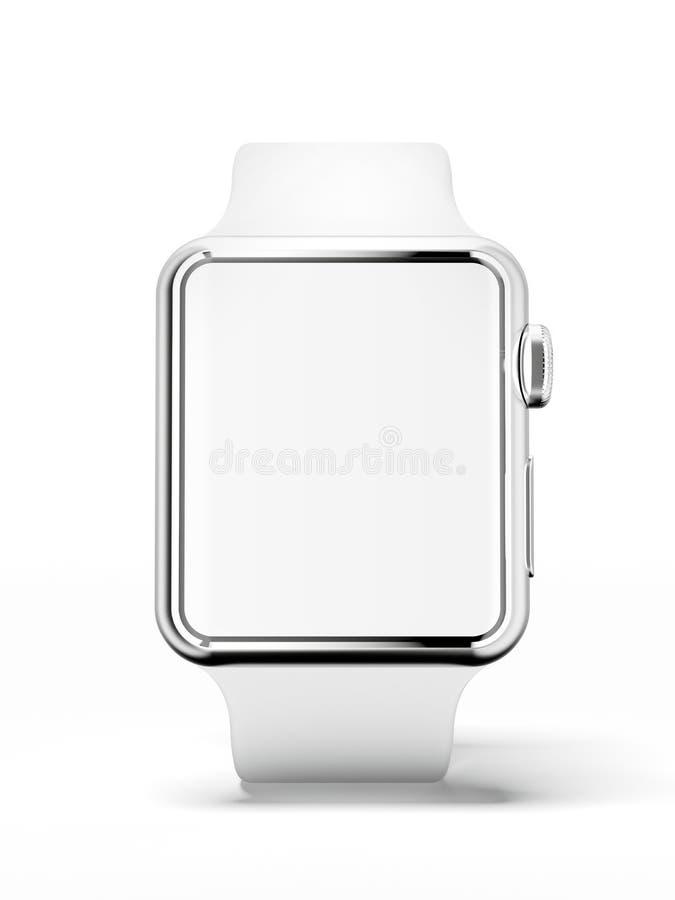 White smart watch vector illustration