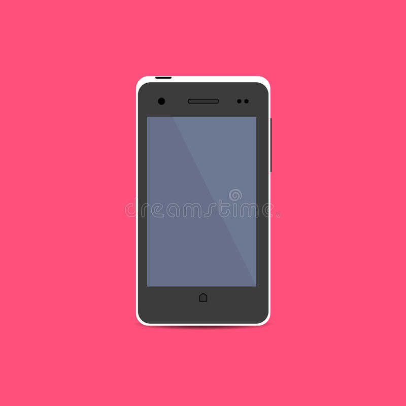 White Smartphone icon in flat design royalty free illustration