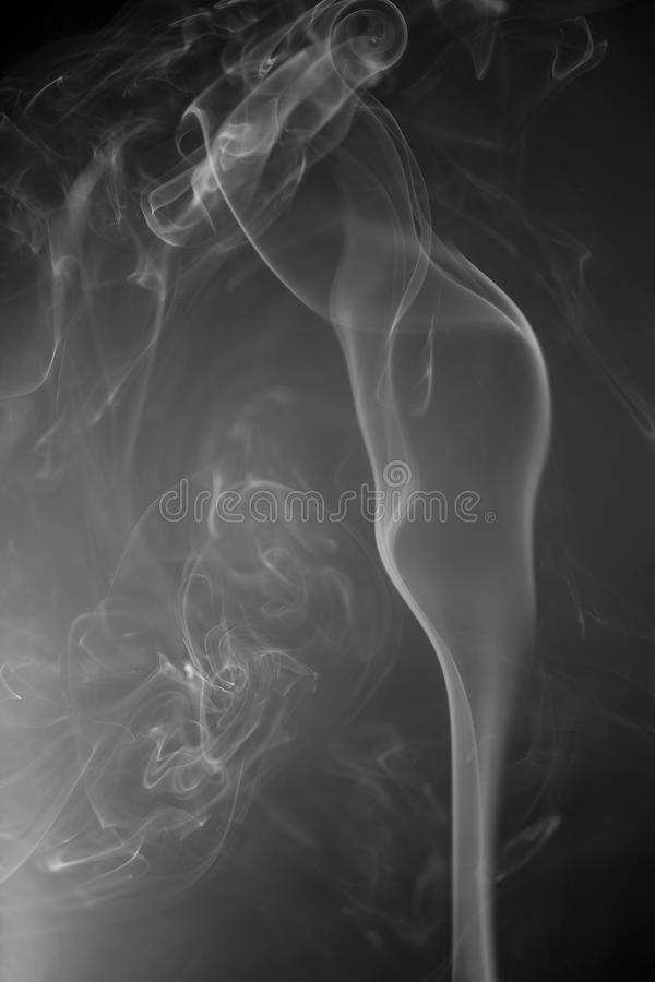 White smoke stock image