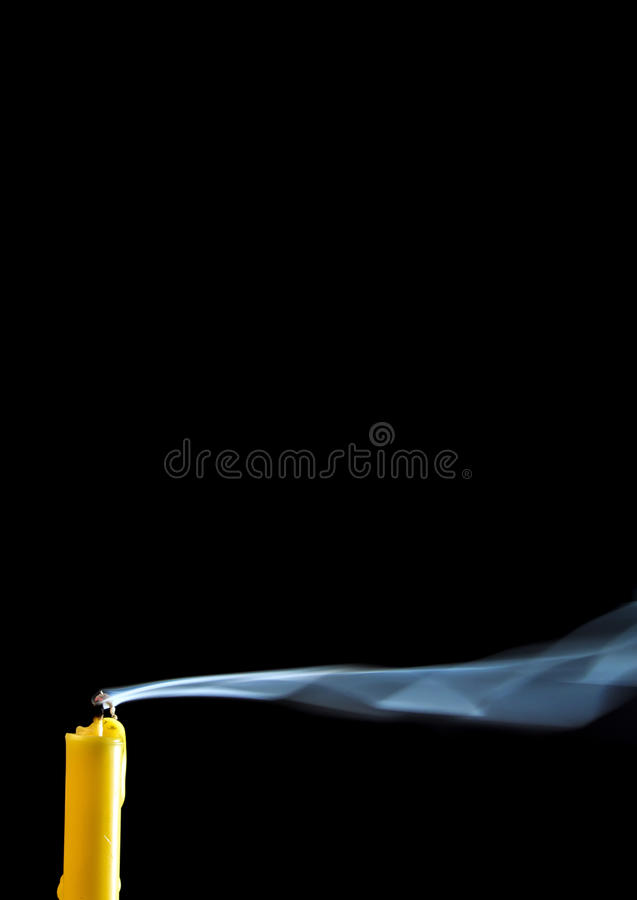 White smoke when the candle goes out. Texture of white smoke when the candle goes out royalty free stock photos