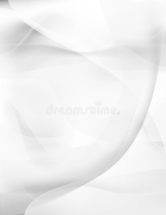 White smooth silk flow abstract background vector illustration