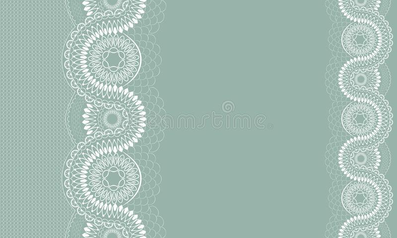 White snör åt modellen royaltyfri illustrationer