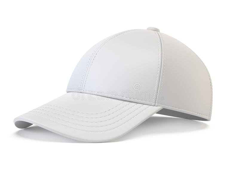 White Snap Back Mock Up, Blank Hat Template, Isolated On White ...