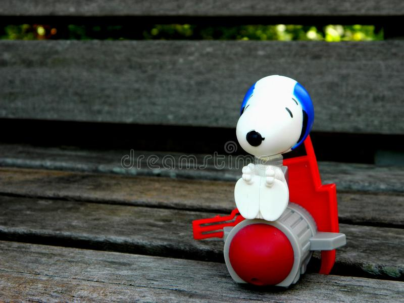White Snoopy Plastic Figure stock photos