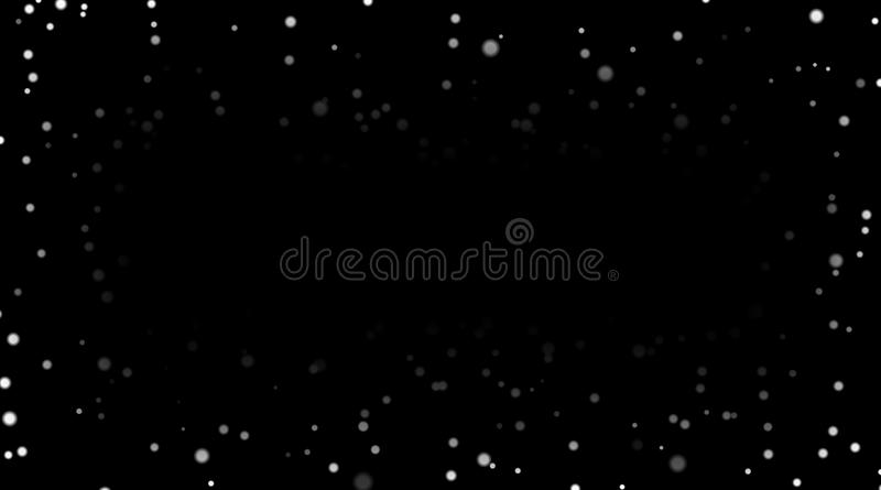 White snow on black background. Winter abstract texture witn falling silver snow. Splash spray dust design for Christmas vector illustration