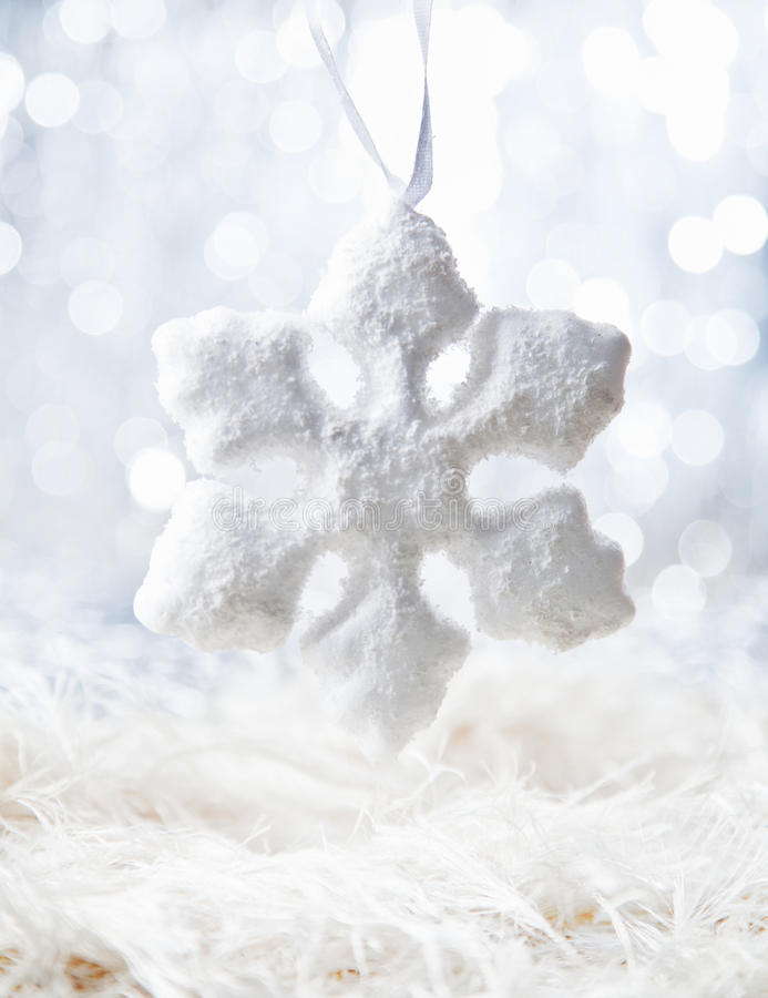 White Snow flake royalty free stock images