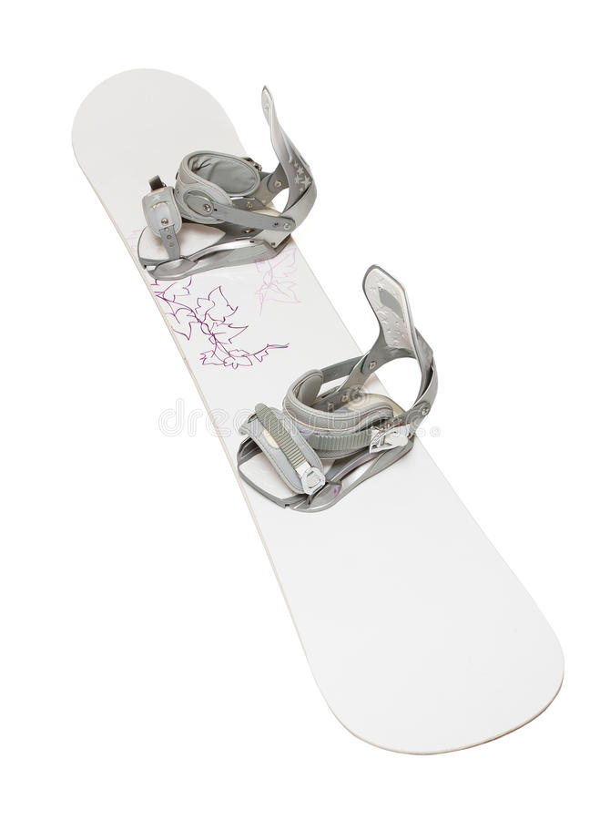 White snowboard stock photos