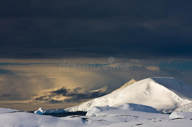 White snowcapped mountain stock photography