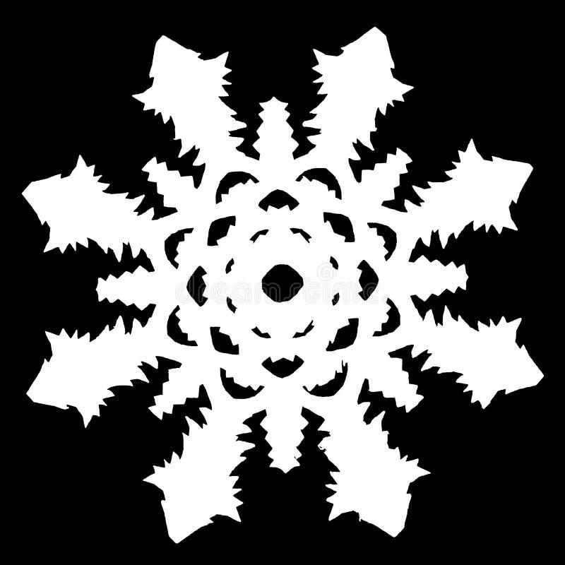 White snowflake on a black background stock photos