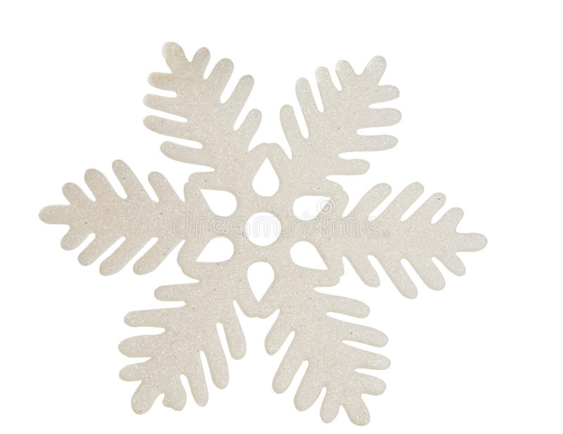 White Snowflake Isolated Stock Photo. Image Of Glitter