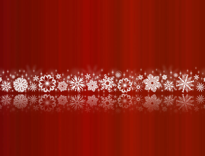 Download White Snowflakes On Red With Reflections Stock Illustration - Image: 16814520