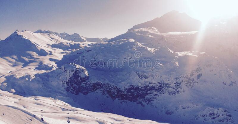 White Snowy Mountain during Daytime stock images