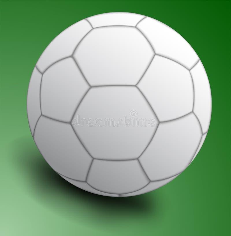 White soccer ball vector illustration