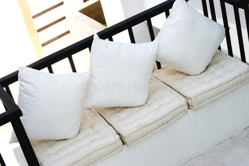 White sofa royalty free stock photos