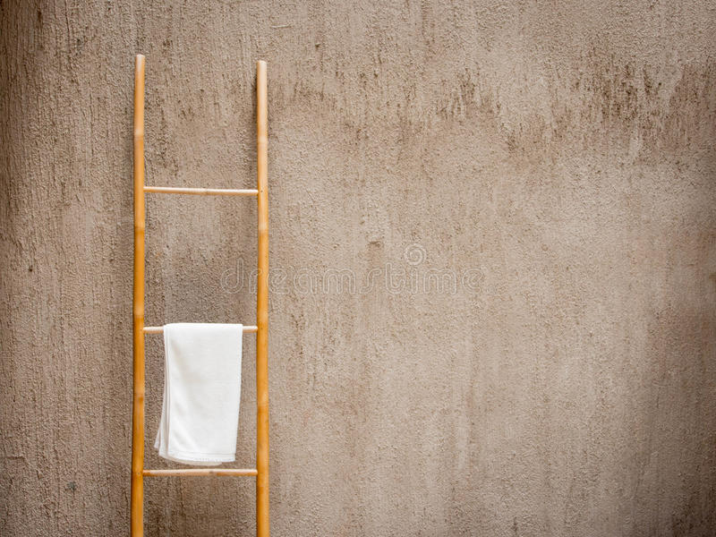 White spa πετσέτα στοκ φωτογραφία με δικαίωμα ελεύθερης χρήσης