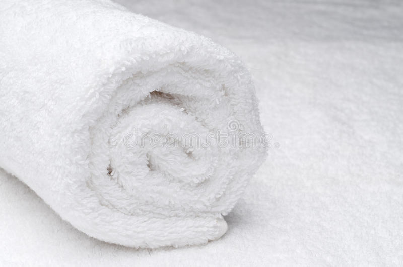 Download A white spa towel stock photo. Image of rolled, bath - 11107056
