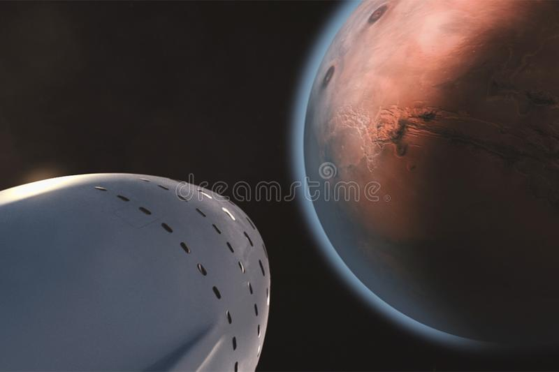 White Space Ship And Brown Planet Free Public Domain Cc0 Image