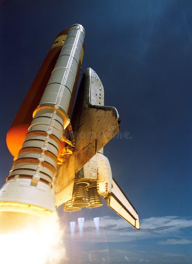 White Spaceship Blast Off during Daytime royalty free stock image
