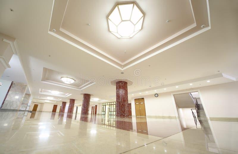 White spacious hall of MSU royalty free stock photo
