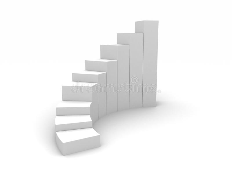 White spiral stairs to success royalty free illustration