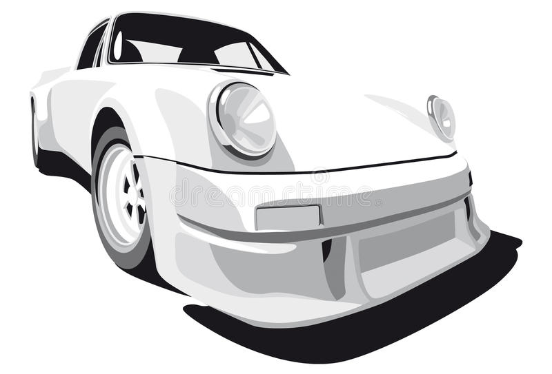Download White sport car editorial stock photo. Image of computer - 11135023