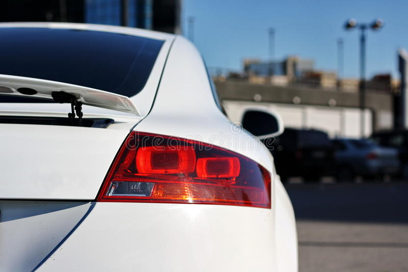 White sport car stock photography