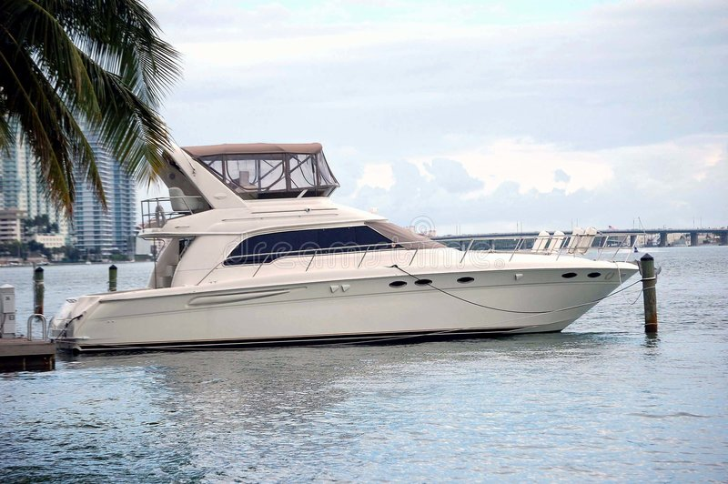 White Sport Fishing Boat royalty free stock photos