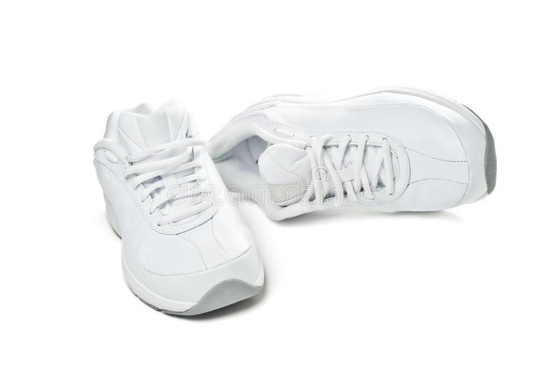 White Sport Shoes Stock Photography