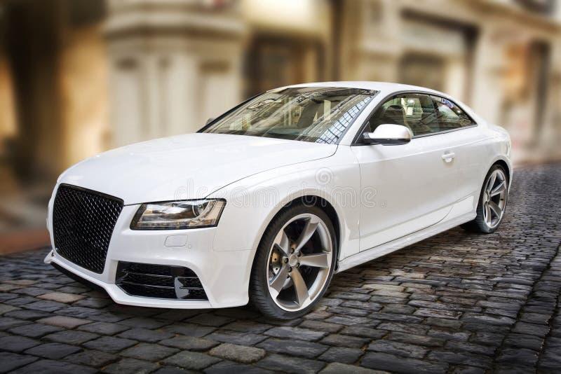 White sportcar royalty free stock image