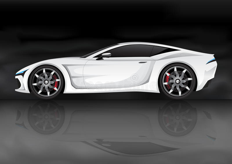 White sports car royalty free illustration
