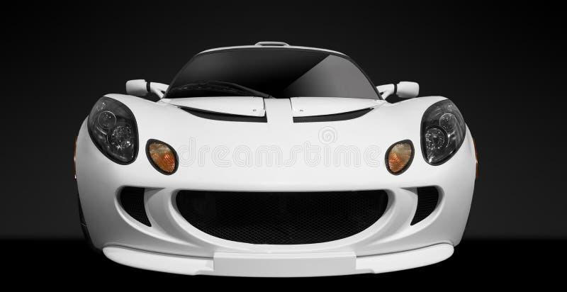 White sports car royalty free stock image