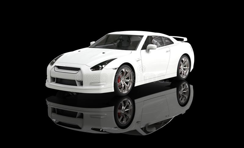 Download White Sports Car On Black Background Stock Illustration    Illustration Of Horizontal, Cars: