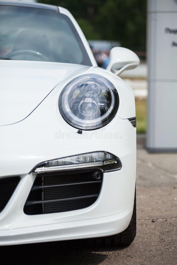 White sports car stock photos